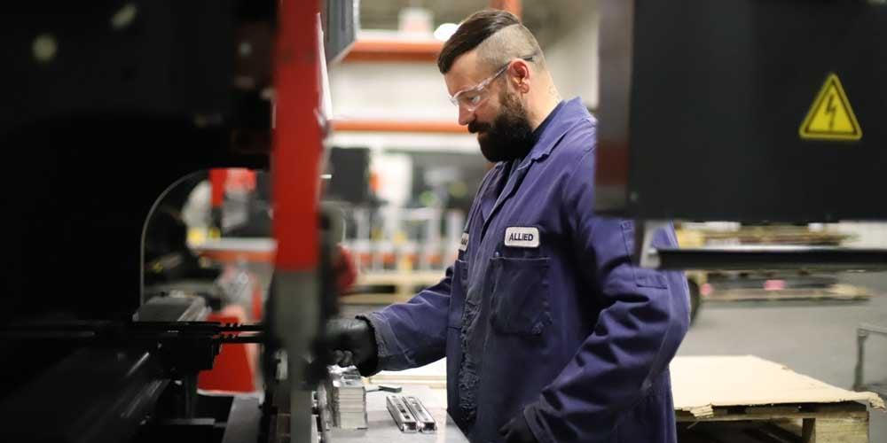 Operating Brake Press